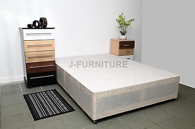 5ft King Size Divan Bed Base in White with 2 Drawers on Foot End GREAT DEAL!!!..