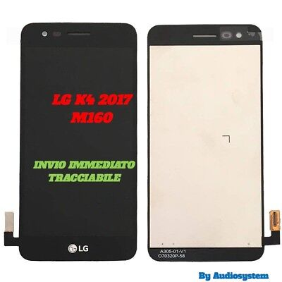 P1 DISPLAY LCD+ TOUCH SCREEN per LG OPTIMUS K4 2017 M160 NERO VETRO NUOVO