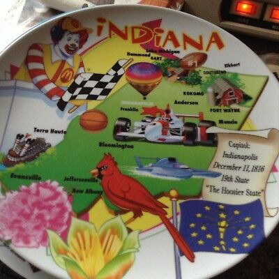 McDonald's  Vintage Collector's Plate  ~~~    INDIANA     2007