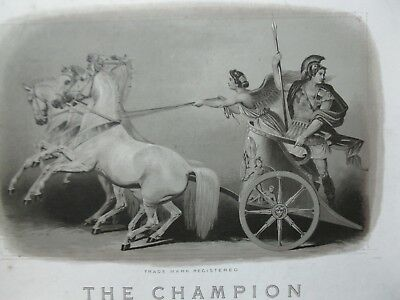 Vintage Chariot Driven By Nike Goddess of Victory Lithograph  - The Champion