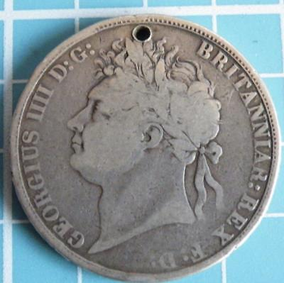 George the Fourth 1821 silver crown.Secundo.
