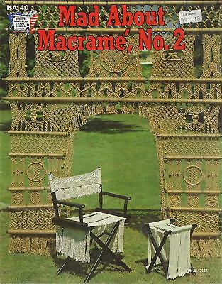 Vintage Mad About Macrame No.2  Booklet - Doorway Curtain,Director's Chair,Stool