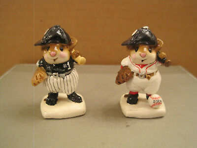 Wee Forest Folk Batter Up! Chicago White Sox and Boston Red Sox Championship pcs