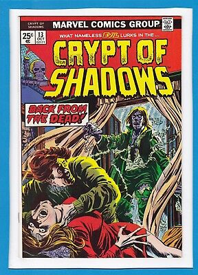 """Crypt Of Shadows #13_October 1974_Vf/nm_""""back From The Dead""""_Bronze Age Horror!"""
