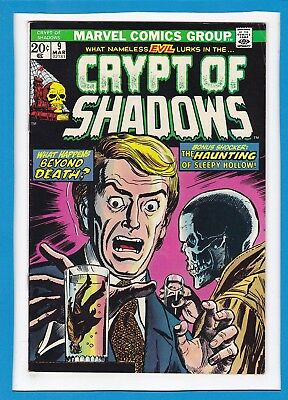 "Crypt Of Shadows #9_March 1974_F/vf_""what Happens Beyond Death""_Bronze Horror!"