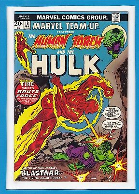 Marvel Team-Up #18_February 1974_Very Good_Human Torch_The Hulk_Bronze Age!