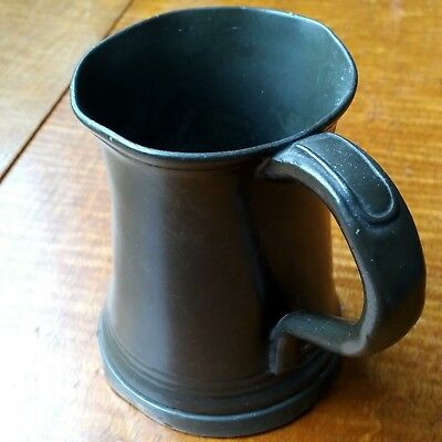Antique Pewter  Tankard Half Pint In Good Condition