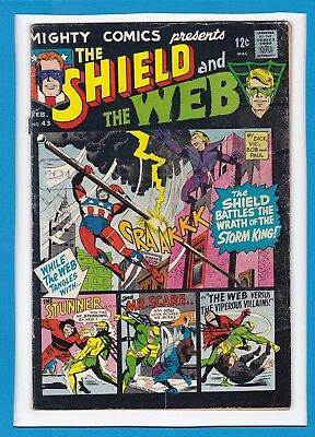 "Mighty Comics Presents... #43_Feb 1967_Good/very Good_""the Shield And The Web""!"