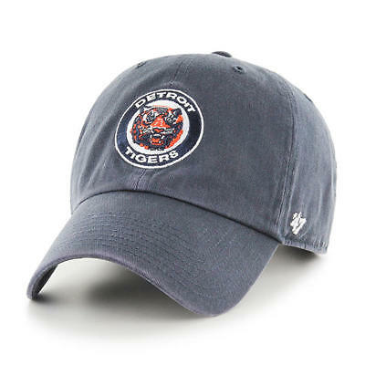 new arrival f44bd ee8e2 Detroit Tigers 47 Brand Clean Up Hat Cap Adjustable Gray Legacy