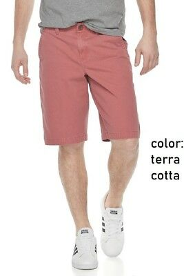 NEW Men's Urban Pipeline Ultimate Flex Twill Flat Front Shorts Terra Cotta sz 40