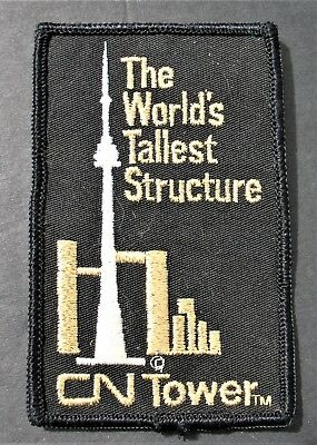 Travel Patch Canada Ontario Toronto Cn Tower Canadian National Tallest Structure