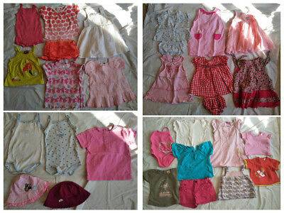 Lot Vêtements Bébé Fille 12 mois 1 an Disney HM ETE 28 pieces