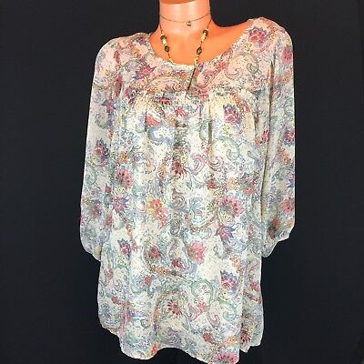 Motherhood Maternity blouse Womens Size M Baby doll style lined top 3/4 Sleeve n