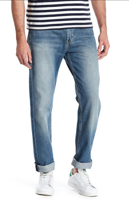 LEVI'S 513 Slim Straight Leg Cotton Blue Jeans NEW NWT