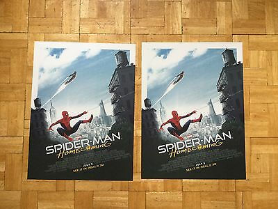 Spider-man homecoming exclusive Odeon film poster buy 1 get 1 free size A3