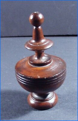 Vintage Walnut Wood Wooden Ornate Furniture, Clock, Mirror Finial