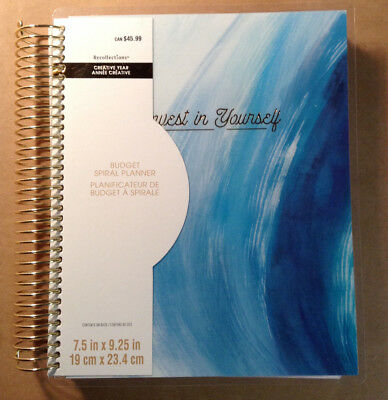 "NEW! 2018-2019 Creative Year ""Blue Strokes"" BUDGET Spiral Planner Recollections"