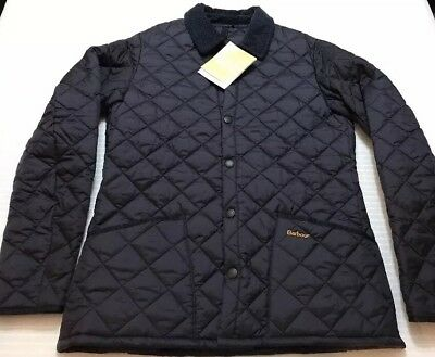NEW W TAGS Barbour Heritage Fit Liddesdale Quilted Jacket | Medium | Navy |