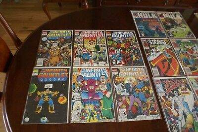 Marvel The Infinity Gauntlet 1-6 complete set from 1991 Comic + EXTRAS, 23 total