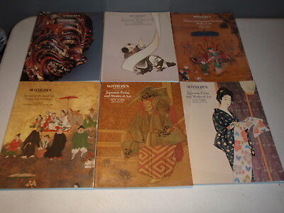 6 Sotheby's  Auction Catalogs Fine Japanese Chinese Works of Art Lot More