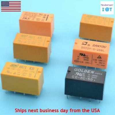 5V 9V 12V 24V DPDT Relay 8 Pin Coil Power Relay PCB Switch 5vdc 9vdc 12vdc 24vdc