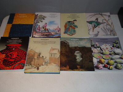 8 Sotheby's  Auction Catalogs Early English Continental Ceramics Lot More