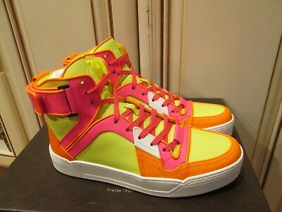 f3941d5f889 NIB GUCCI NEON Yellow Leather Ipanema Lace Up 369088 Running ...