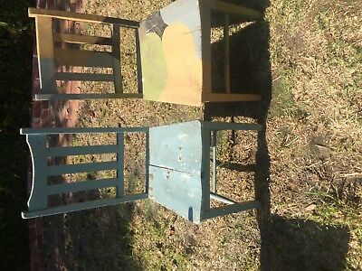 Vintage painted chairs 2 of