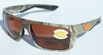 bc03bfeadc7 COSTA DEL MAR Motu 580 POLARIZED Sunglasses Realtree Xtra Camo Copper 580P  NEW