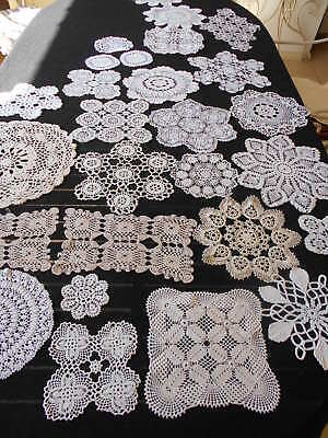 Selection Of 27 Vintage Exquisite & Delicate Hand Made Doilies