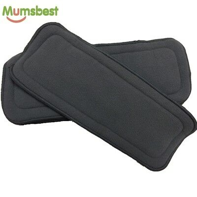 10 * 5 Layer Inserts Reusable Bamboo Charcoal Liners for Baby Modern Cloth Nappy