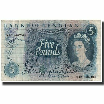 [#591691] Banknote, Great Britain, 5 Pounds, 1966, KM:375b, EF(40-45)