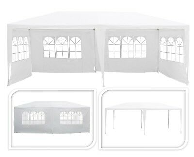 3M x 6M White Party Tent Waterproof Outdoor Gazebo Marquee Garden Canopy