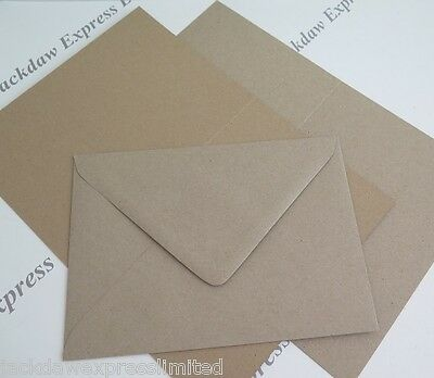 "Recycled Kraft Blank Greeting Cards or Envelopes A5 A6 6x6"" 5x7"" Wedding Crafts"