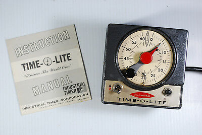 P-59 TIME O LITE darkroom timer &  Original Instruction Manual- Tested Working