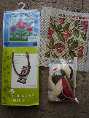 """2 x Tapestry Kits  """"Flora"""" by Anchor Cherry spec case by Cleopatra's Needle"""