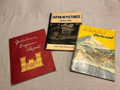 (3) Post-WWII Japan Pictorial Guides Yokohama Engineer Depot Tokyo News Service