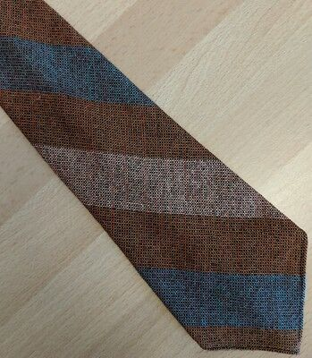 Vintage striped Scottish fine wool tie 1950s