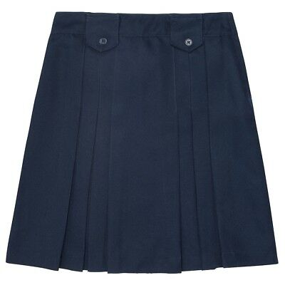 Girls juniors skirt school Uniform Navy Blue 18 1/2 plus NEW French Toast