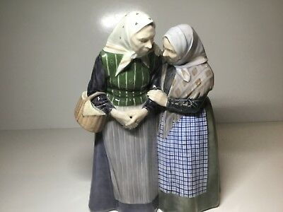 Large Royal Copenhagen Gossips Elderly Women Figurine 1319