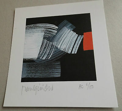 RAUL G ISIDRO abstract LITHO vintage original 1983 hand signed # RARE Meissner r