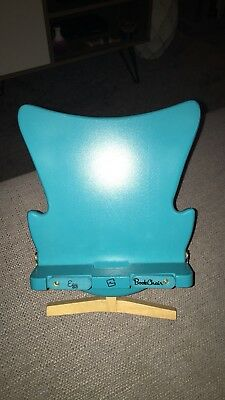 Turquoise Egg Book Chair Wooden Adjustable Book Recipe Stand iPad Tablet Holder