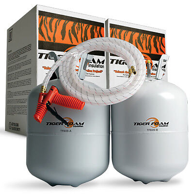 Tiger Foam 600bd/ft Quick Cure Spray Foam Insulation Kit - FREE SHIPPING