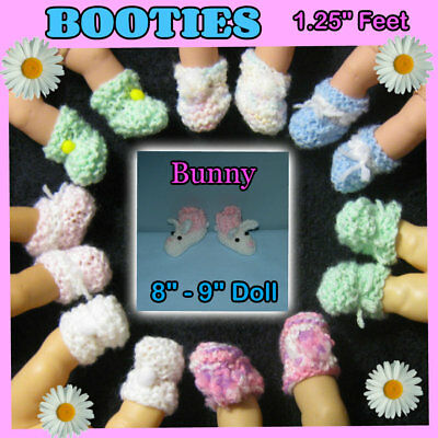 """BOOTIES fits 1.25"""" feet about 8"""" - 9"""" Baby Doll Handmade by the Crafty Grandmas"""