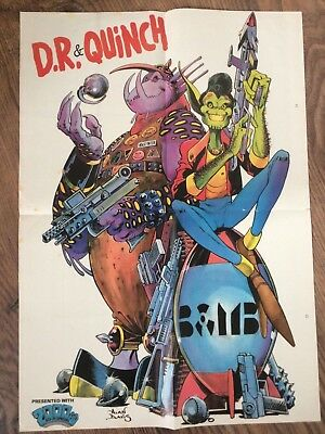 Vintage D.R. & Quinch Poster, from 2000AD Sci Fi Special comic, Alan Davis, A3