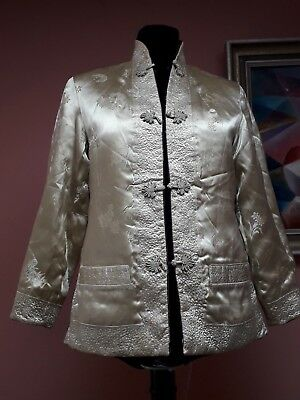 Antique Vintage Satin Jacket Chinese Reversible Heavy Quality Fabric
