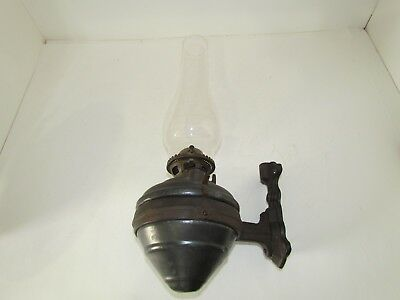 Antique Railroad Hanging Oil Lamp Caboose/Car Cast Iron Ring 1890 Patent