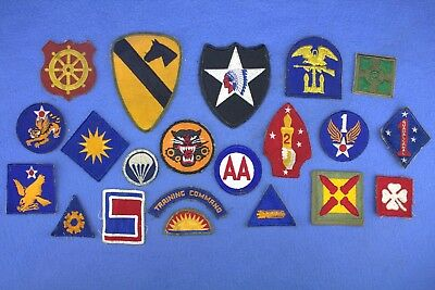 Nice Grouping of 21 Original US Army/USMC Cut Edge No-Glove Shoulder  Patches