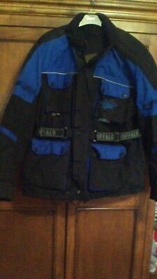 Buffalo Blue / Black Motorbike Jacket Large