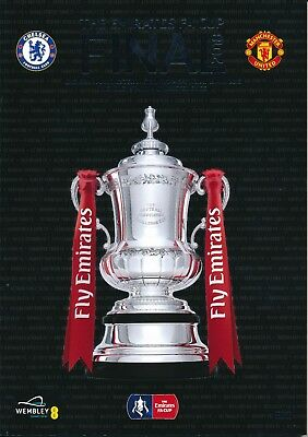 FA CUP FINAL PROGRAMME 2018 Chelsea v Manchester United PLUS exclusive extra #2